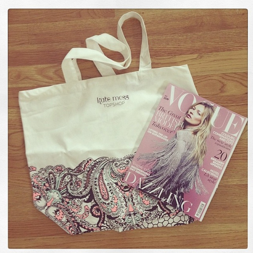 Tote Bag From Nordstrom For Kate Moss Topshop